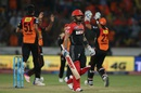 Virat Kohli walks back after being dismissed for 14, Sunrisers Hyderabad v Royal Challengers Bangalore, IPL 2016, Hyderabad, April 30, 2016