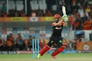 AB de Villiers drives off the back foot, Sunrisers Hyderabad v Royal Challengers Bangalore, IPL 2016, Hyderabad, April 30, 2016