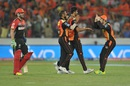 AB de Villiers walks back after being dismissed for 47, Sunrisers Hyderabad v Royal Challengers Bangalore, IPL 2016, Hyderabad, April 30, 2016