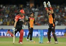 Shane Watson was run-out for 2, Sunrisers Hyderabad v Royal Challengers Bangalore, IPL 2016, Hyderabad, April 30, 2016
