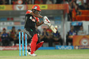 Sachin Baby plays a cut, Sunrisers Hyderabad v Royal Challengers Bangalore, IPL 2016, Hyderabad, April 30, 2016