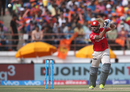 M Vijay drills the ball through the off side, Gujarat Lions v Kings XI Punjab, IPL 2016, Rajkot, May 1, 2016