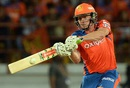 James Faulkner smacks one onto the leg side, Gujarat Lions v Kings XI Punjab, IPL 2016, Rajkot, May 1, 2016