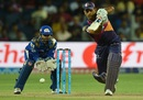 MS Dhoni drives through the off side, Rising Pune Supergiants v Mumbai Indians, IPL 2016, Pune, May 1, 2016