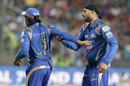 Ambati Rayudu and Harbhajan Singh were involved in a heated exchange, Rising Pune Supergiants v Mumbai Indians, IPL 2016, Pune, May 1, 2016