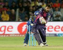 Saurabh Tiwary launches one into the leg side, Rising Pune Supergiants v Mumbai Indians, IPL 2016, Pune, May 1, 2016