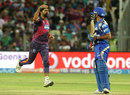 Ashok Dinda exults after removing Parthiv Patel, Rising Pune Supergiants v Mumbai Indians, IPL 2016, Pune, May 1, 2016