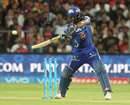Ambati Rayudu slices one over point, Rising Pune Supergiants v Mumbai Indians, IPL 2016, Pune, May 1, 2016