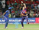 Scott Boland bowls on his IPL debut, Rising Pune Supergiants v Mumbai Indians, IPL 2016, Pune, May 1, 2016