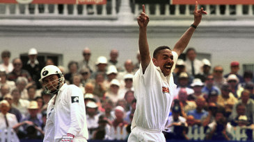 Phil DeFreitas finished with nine wickets in the match