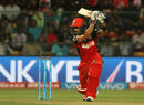 Virat Kohli drives through cover, Royal Challengers Bangalore v Kolkata Knight Riders, IPL 2016, Bangalore, May 2, 2016