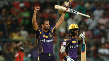 Yusuf Pathan exults after leading his team to a win