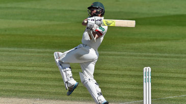 Mark Pettini pulls during his hundred