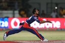 Shahbaz Nadeem attempts to take a catch, Gujarat Lions v Delhi Daredevils, IPL 2016, Rajkot, May 3, 2016