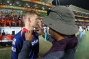 Sam Billings is wired up with a microphone, Gujarat Lions v Delhi Daredevils, IPL 2016, Rajkot, May 3, 2016