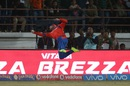 McCullum tries to stop a six near the boundary, Gujarat Lions v Delhi Daredevils, IPL 2016, Rajkot, May 3, 2016