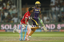 Sandeep Sharma runs out Andre Russell off the last ball of the innings, Kolkata Knight Riders v Kings XI Punjab, IPL 2016, Kolkata, May 4, 2016