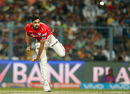 Left-arm spinner Swapnil Singh in his delivery stride, Kolkata Knight Riders v Kings XI Punjab, IPL 2016, Kolkata, May 4, 2016