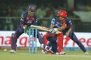 JP Duminy plays a sweep, Delhi Daredevils v Rising Pune Supergiants, IPL 2016, Delhi, May 5, 2016
