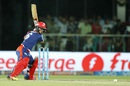 Pawan Negi prepares for a big hit, Delhi Daredevils v Rising Pune Supergiants, IPL 2016, Delhi, May 5, 2016