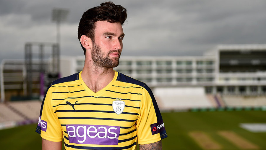 Reece Topley at the Hampshire photocall