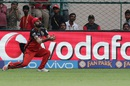 Parvez Rasool takes a catch to dismiss MS Dhoni, Royal Challengers Bangalore v Rising Pune Supergiants, IPL 2016, Bangalore, May 7, 2016
