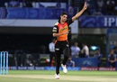 Ashish Nehra celebrates after picking up a wicket, Mumbai Indians v Sunrisers Hyderabad, IPL 2016, Visakhapatnam, May 8, 2016