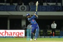 Harbhajan Singh launches one over long off, Mumbai Indians v Sunrisers Hyderabad, IPL 2016, Visakhapatnam, May 8, 2016
