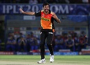 Barinder Sran took 2 for 18 in 3.3 overs, Mumbai Indians v Sunrisers Hyderabad, IPL 2016, Visakhapatnam, May 8, 2016