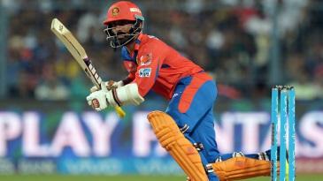 Dinesh Karthik goes through the leg side