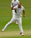 Joe Leach was on a hat-trick early in Glamorgan's innings, Glamorgan v Worcestershire, County Championship, Division Two, Cardiff, 2nd day, May 9, 2016