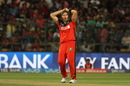 Shane Watson reacts after a play and a miss, Royal Challengers Bangalore v Mumbai Indians, IPL 2016, Bangalore, May 11, 2016