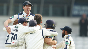 Yorkshire celebrate their victory