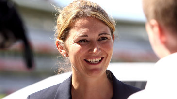 Charlotte Edwards at the launch of a new sponsorship deal