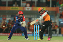Kane Williamson cuts off the back foot, Sunrisers Hyderabad v Delhi Daredevils, IPL 2016, Hyderabad, May 12, 2016