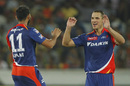 Nathan Coulter-Nile bowled an economical spell and picked two wickets, Sunrisers Hyderabad v Delhi Daredevils, IPL 2016, Hyderabad, May 12, 2016