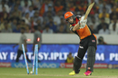 Kane Williamson could not stop a yorker from Chris Morris, Sunrisers Hyderabad v Delhi Daredevils, IPL 2016, Hyderabad, May 12, 2016