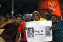 Fans of VVS Laxman, the Sunrisers mentor, and Rahul Dravid, his Daredevils counterpart, at the stadium, Sunrisers Hyderabad v Delhi Daredevils, IPL 2016, Hyderabad, May 12, 2016