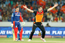 Moises Henriques appeals for the wicket of Quinton de Kock, Sunrisers Hyderabad v Delhi Daredevils, IPL 2016, Hyderabad, May 12, 2016