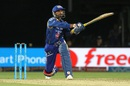 Harbhajan Singh goes big over the leg side, Mumbai Indians v Kings XI Punjab, IPL 2016, Visakhapatnam, May 13, 2016