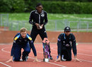 On your marks: Joe Root, Perri Shakes-Drayton and Moeen Ali at the launch of the NatWest T20 Blast, Loughborough, May 13, 2016