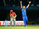 Tim Southee successfully appeals for the wicket of Hashim Amla after trapping him lbw, Mumbai Indians v Kings XI Punjab, IPL 2016, Visakhapatnam, May 13, 2016