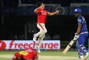 Marcus Stoinis celebrates one of his four wickets, Mumbai Indians v Kings XI Punjab, IPL 2016, Visakhapatnam, May 13, 2016