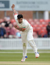 Atif Sheikh bowled quickly but only picked up 1 for 86, Leicestershire v Sri Lankans, Tour match, Grace Road, 2nd day, May 14, 2016