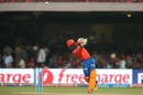 Dinesh Karthik perished trying to loft one over covers, Royal Challengers Bangalore v Gujarat Lions, IPL 2016, Bangalore, May 14, 2016