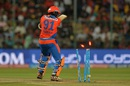 Dhawal Kulkarni is castled by Chris Jordan, Royal Challengers Bangalore v Gujarat Lions, IPL 2016, Bangalore, May 14, 2016
