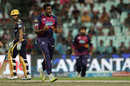 R Ashwin is pumped up after dismissing Gautam Gambhir, Kolkata Knight Riders v Rising Pune Supergiants, IPL 2016, Kolkata, May 14, 2016