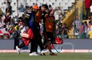 Ashish Nehra is helped off the field after picking up an injury, Kings XI Punjab v Sunrisers Hyderabad, IPL 2016, Mohali, May 15, 2016