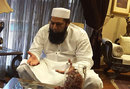 Inzamam-ul-Haq does an interview in his living room, Lahore, May 2016