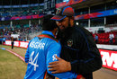 Inzamam-ul-Haq hugs Asghar Stanikzai after the win, Afghanistan v West Indies, World T20 2016, Group 1, Nagpur, March 27, 2016